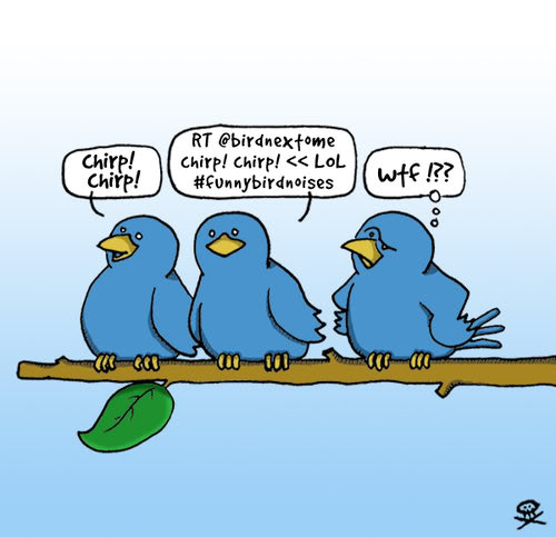 Twitter funny cartoon birds image